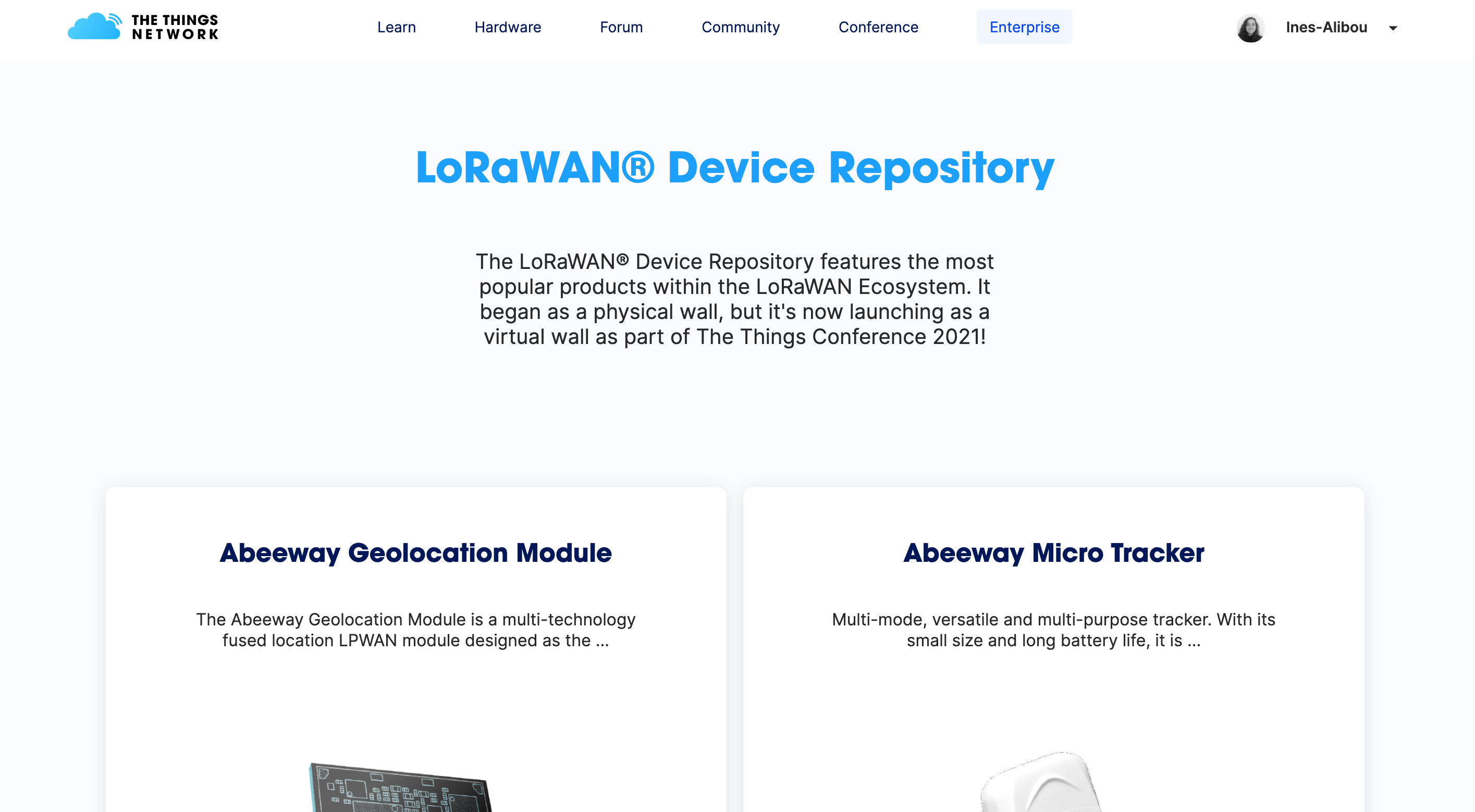 Device Repository front-end released